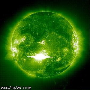 Cool Images of our Sun!-solar-flare-green.jpg
