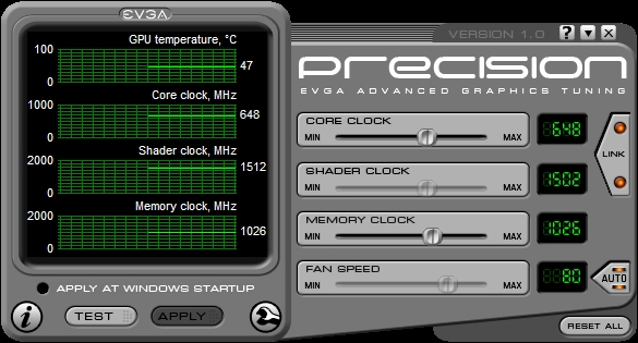 NEW* eVGA Graphics card Overclocking Utility!!! eVGA Precision-evga ...