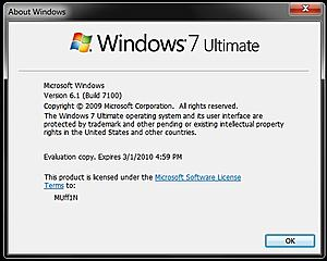 Upgraded to Windows 7 Ultimate RC 7100!-windows-7-ultimate-rc-build-7100