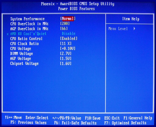 Guide Amd Athlon 64 Motherboard Bios Settings Cpu And Voltage Settings
