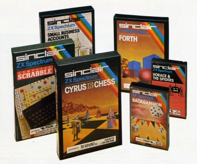 selection of spectrum game boxes