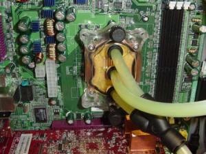 Waterblock on CPU