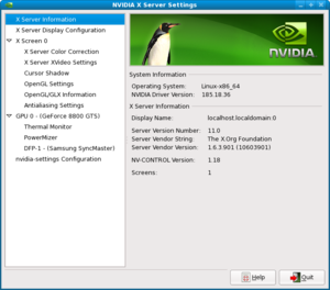 I need help installing Nvidia driver in Fedora 11 64 bit please-screenshot-nvidia-x-server-settings.png