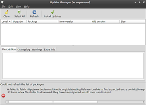 Debian based Mint-screenshot-update-manager.png