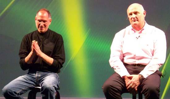 Steve Jobs and Eric Nicol